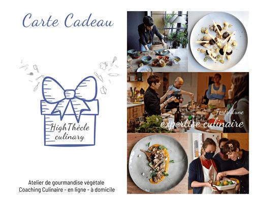 Carte Cadeau - Coaching culinaire