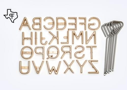 Freeze Brand Alphabet Sets