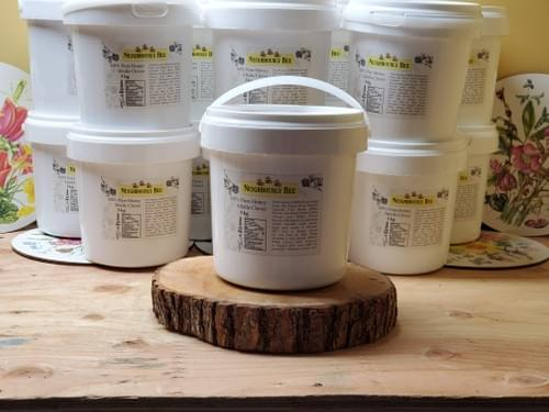 3Kg Pail 100% Pure Alfalfa Clover Honey, Naturally Crystallized