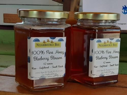 Blueberry Blossom Honey, 100% Pure Honey