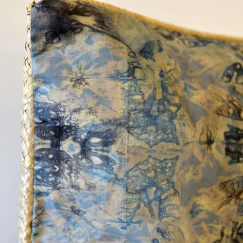 Reversible Blue Bazor Pillow