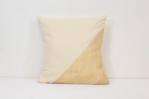 No.8, Biri Biri Palm and Handwoven Cotton Square
