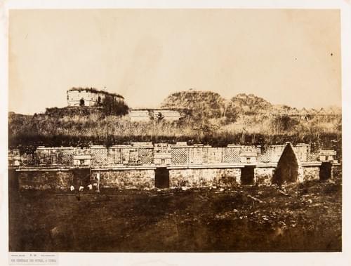 Charnay - Vue générale des ruines à Uxmal, pl. 49