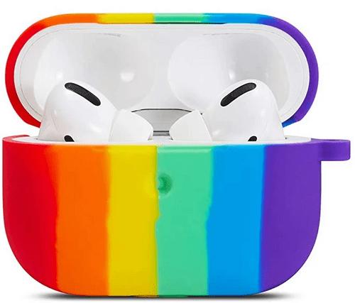 Airpod Soft Silicone Rainbow Case Cover
