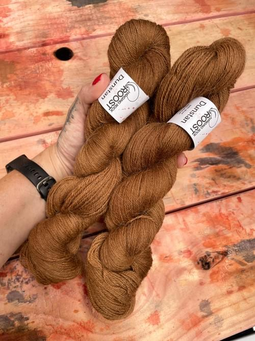 Dunstan Yarn – All the Leaves are Brown Colourway