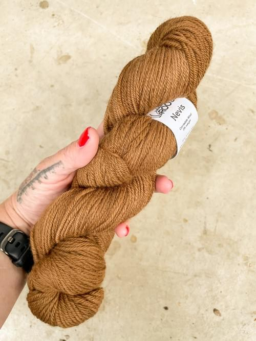 Nevis Yarn – All the Leaves are Brown Colourway