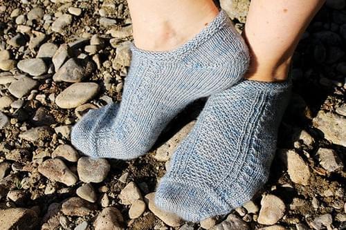 Orari River Socks PRINT Pattern