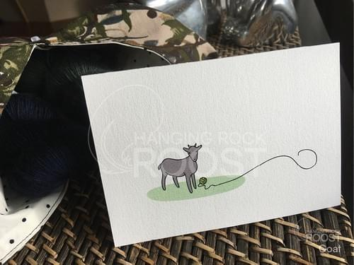 Little Goat Greeting Card
