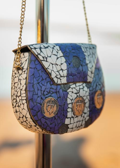 Beautiful handmade mosaic handbags