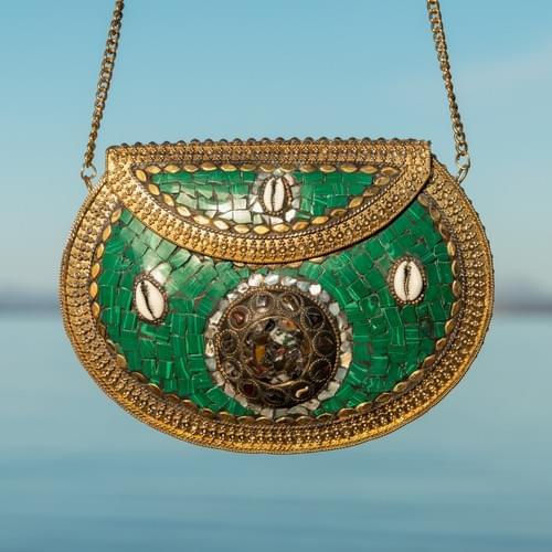 Handmade mosaic handbag