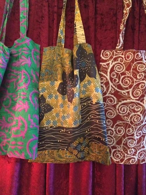 Up-cycled reversible sari bags A3 size with handle
