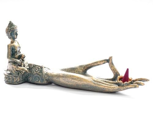 Beautiful Buddha Vintage style hand incense burner