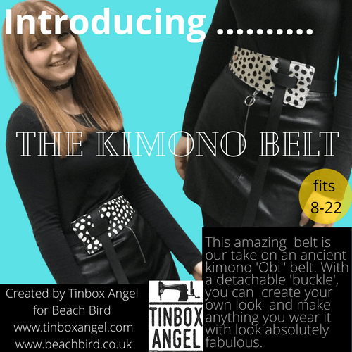 Handmade luxury leather Kimono/Obi belt