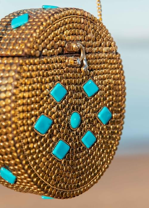 Handmade mosiac bag.