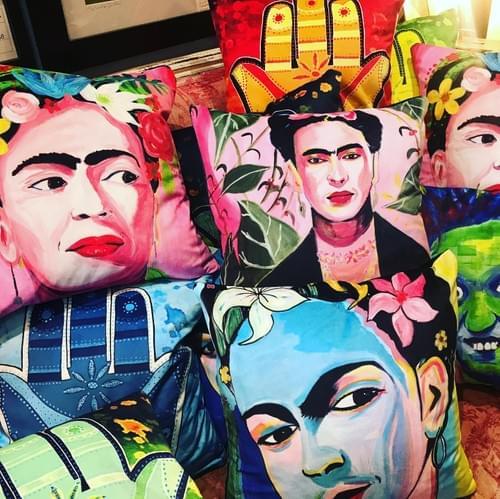 Handmade cushions with our original art