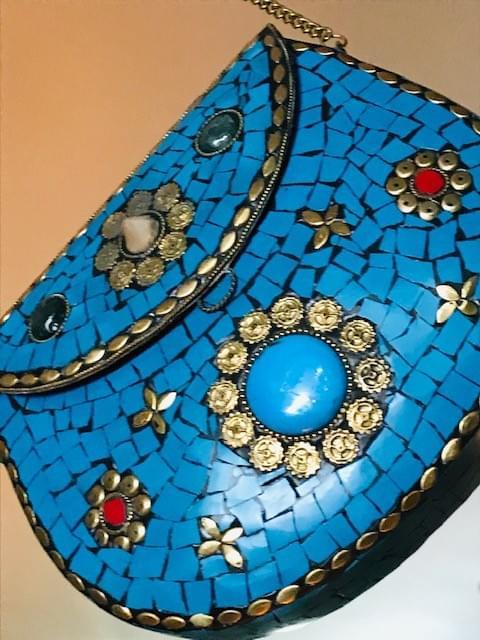 Beautiful handmade mosaic handbags