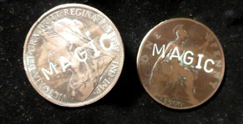 Personalised for Magicians - Original Victorian and Georgian Pennies