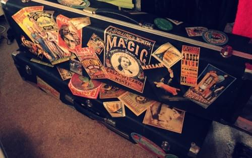 Vintage cases for props,  as a stand or great for storage.