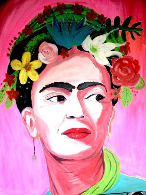 Original art work Frida Kahlo by Andy Winters (cards also available £2.50) Giclee Prints  from: