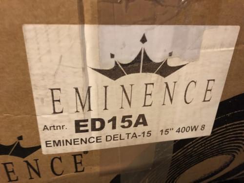 Haut parleur EMINENCE ED15A
