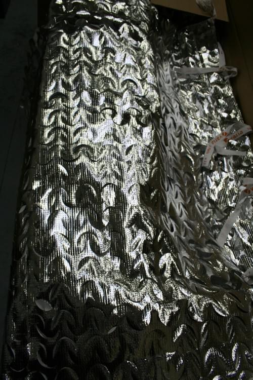 Rideau argenté 2m large x 4m haut