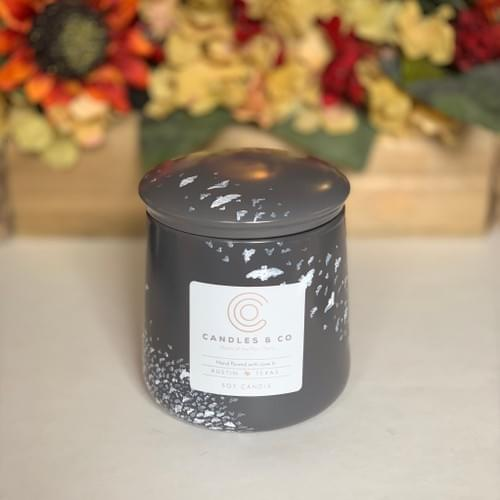 """Hand Painted """"Bat City"""" - 28oz Soy Candle"""