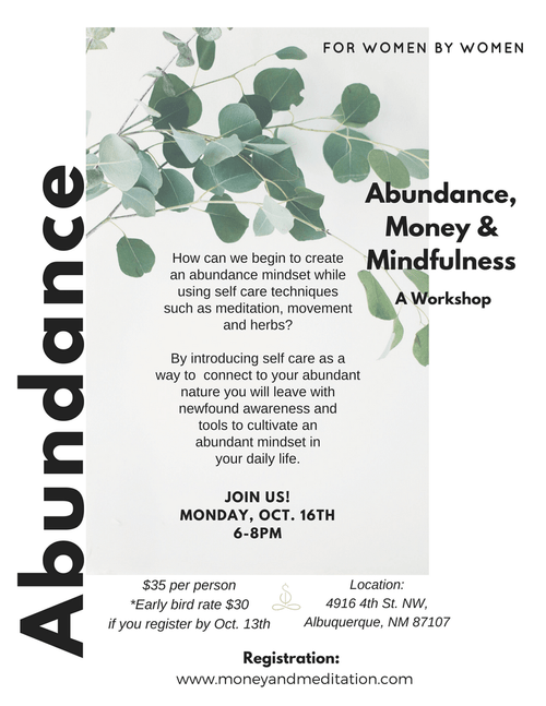 Abundance Workshop - Oct. 16th @ 6pm