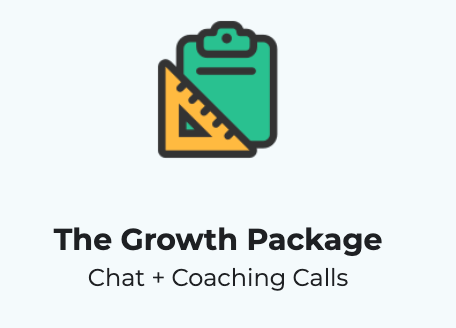 "3-month ""Growth Package"" Coaching w/ Calls (20% off) 2"