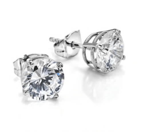 House of Diamonds Classic Diamond Earrings Pair (1+ ct each)
