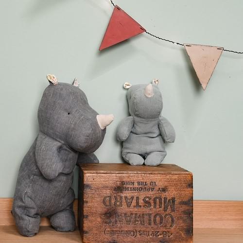 Doudou Rhino et Hippo Maileg