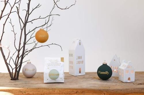 Boules de Noël à message