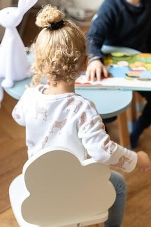 Chaise enfant lapin / nuage