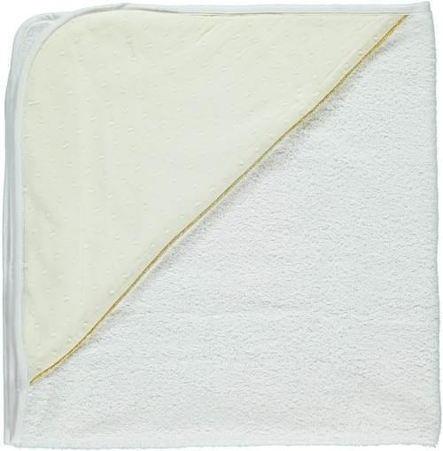 Cape de bain en plumetis crème