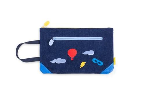 Pochette Superpetit en denim