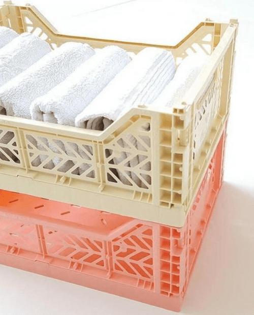 Caisse de rangement en plastique recyclé SMALL