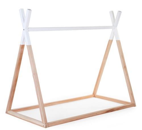 Lit Tipi  70X140 cm en bois naturel