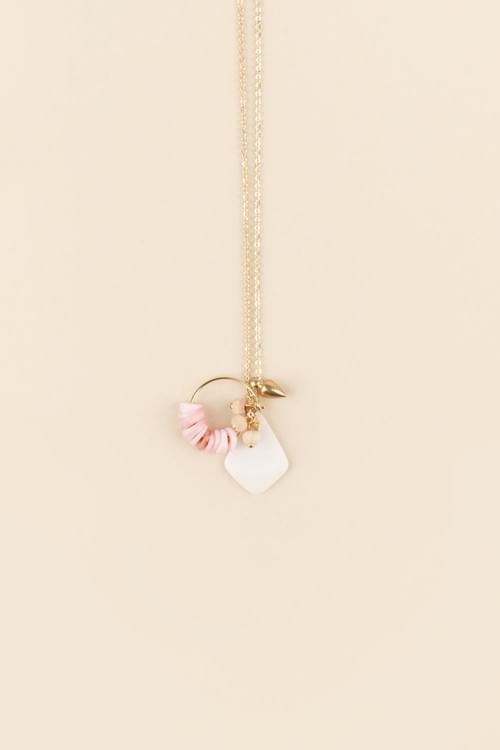 Collier Emily perles et créole