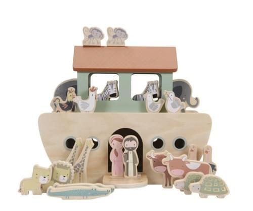 Arche de Noé en bois 25 pièces