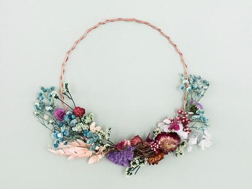 Kit DIY Ma couronne en fleurs séchées