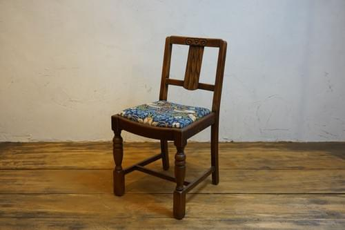 antique chair 1930s William Morris strawberry thief