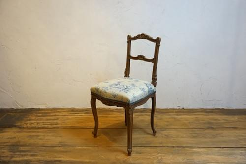 France antique Toile de Jouy chair Mid-18th century