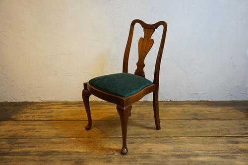 queen anne antique Mahogany chair1930s