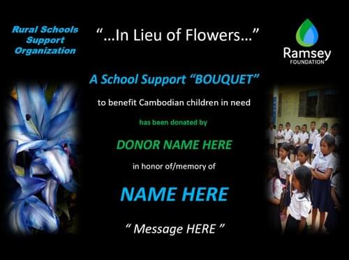 """In Lieu of Flowers"" School Support Package"