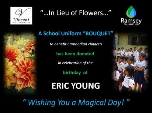 """""""In Lieu of Flowers"""" School Uniform Package"""