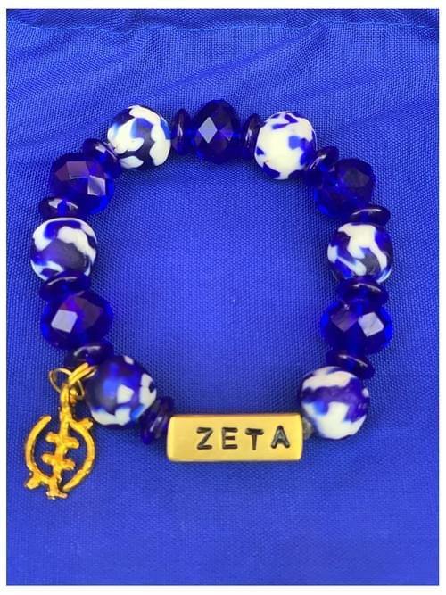 Zeta Edition - Ghana Sigmas Charter Bracelet - Engraved w/ Names