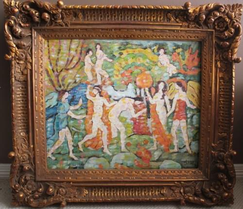 Bathers In The Style Of Prendergast