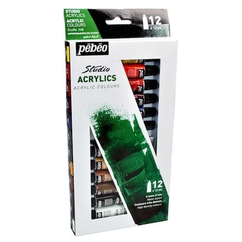 PEBEO Studio Acrylic Paint 12ml Set x 12