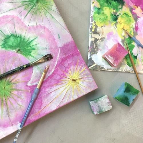 Lotus leaf painting workshops