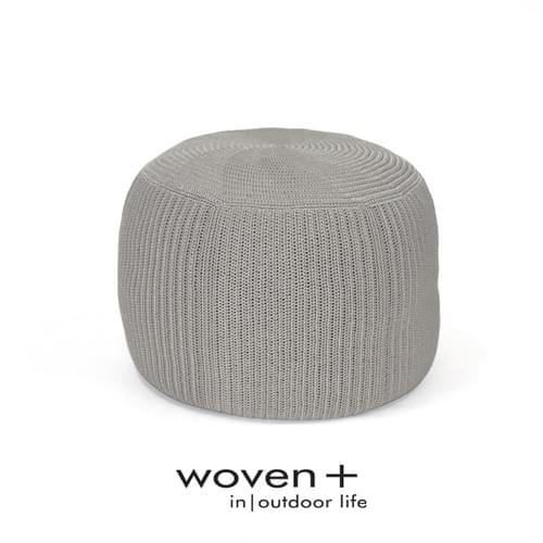 Crochet Round Pouf Taupe