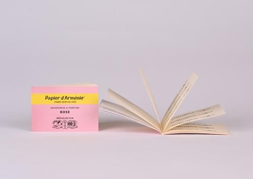 Rose Incence Burning Paper [2 booklets]
